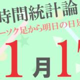 【為替時間統計論(日足)】1月17日の予報は全20通貨ペア中、最高陽線確率が78%、最高陰線確率が78%となっています!