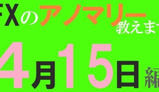 【FX】4月15日の為替相場アノマリーを紹介します!陽線確率:豪ドル/円⇒29%、カナダドル/円⇒24%、ユーロ/ポンド⇒29%