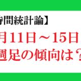 【時間統計論】11月11日の週はどう動く?