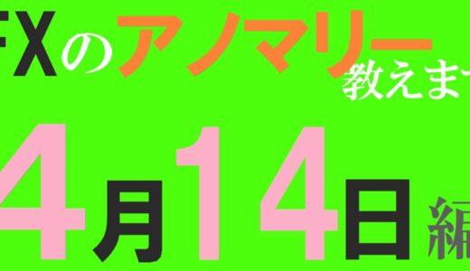 【FX】4月14日の為替相場アノマリーを紹介します!陽線確率:ポンド/ドル⇒76%、豪ドル/ドル⇒79%、豪ドル/カナダドル⇒72%
