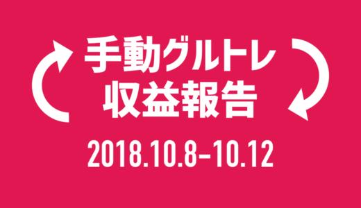 【グルトレ手動】2018年10月2週目は15チャリンで7,500円!